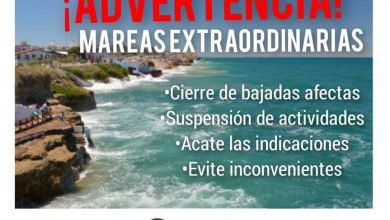 Photo of ALERTA POR MAREAS EXTRAORDINARIAS Y CIERRE PREVENTIVO DE BAJADAS