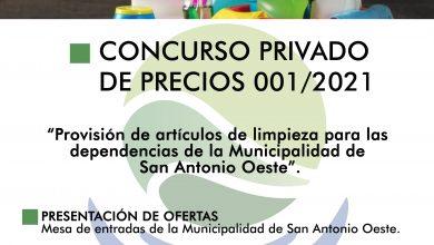Photo of LLAMADO A CONCURSO PRIVADO DE PRECIOS 001//2021