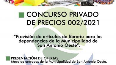 Photo of LLAMADO A CONCURSO PRIVADO DE PRECIOS N°002/2021