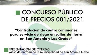 Photo of LLAMADO A CONCURSO PÚBLICO DE PRECIOS N°001/2021