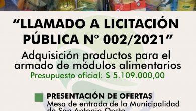 Photo of LLAMADO A LICITACIÓN PÚBLICA N°002/2021