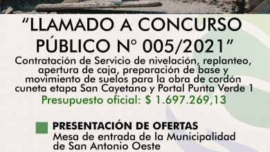Photo of CORDÓN CUNETA, LLAMADO A CONCURSO PÚBLICO DE PRECIOS N° 005/2021