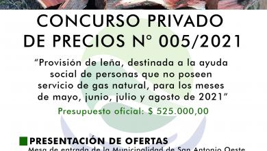 Photo of CONCURSO PRIVADO DE PRECIOS N° 005/2021