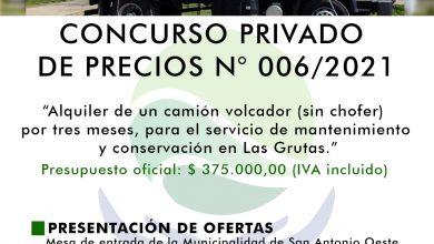 Photo of CONCURSO PRIVADO DE PRECIOS N° 006/2021