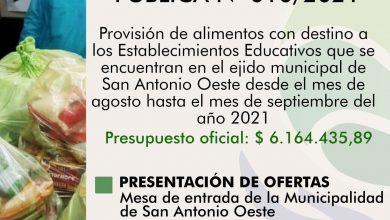 Photo of LLAMADO PARA LA PROVISIÓN DE ALIMENTOS A ESTABLECIMIENTOS EDUCATIVOS