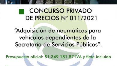 Photo of CONCURSO PRIVADO PARA LA COMPRA DE NEUMÁTICOS