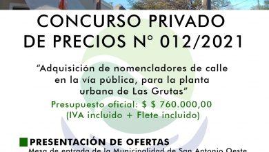 Photo of CONCURSO PRIVADO PARA NOMENCLADORES DE CALLES DE LAS GRUTAS