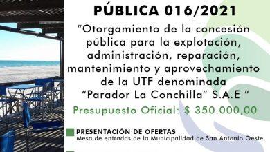 """Photo of LICITACIÓN DEL """"PARADOR LA CONCHILLA"""""""